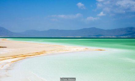 The Djibouti lake posing as paradise