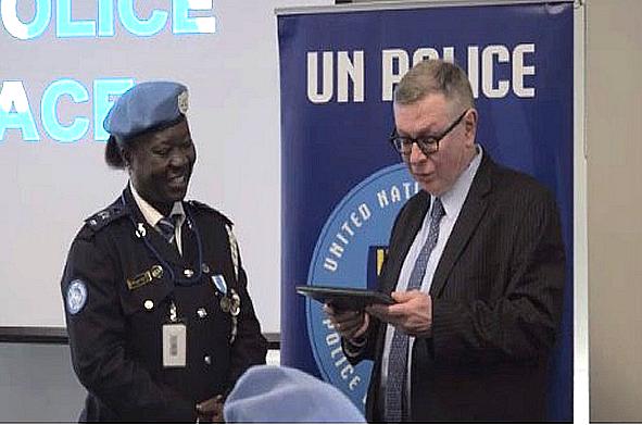 Ghana's Phyllis Osei is 2018's UN Female Police Officer