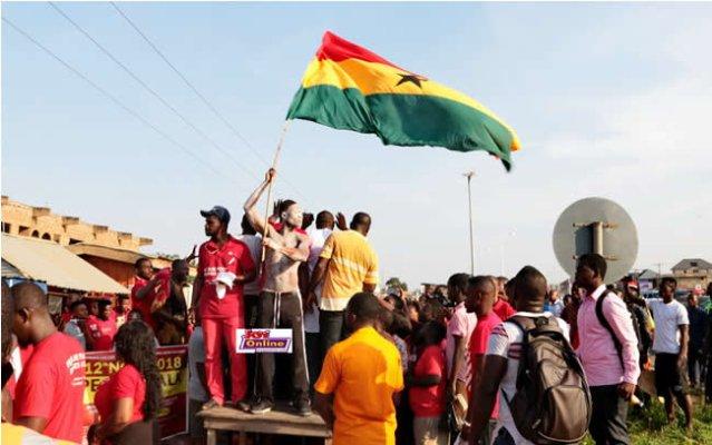 Madina-Adentan demo over highway deaths underway